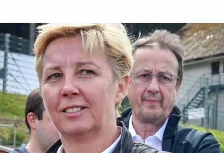 Nathalie Maillet e Franz Dubois na foto acima. (Foto: Reprodução/Twitter)