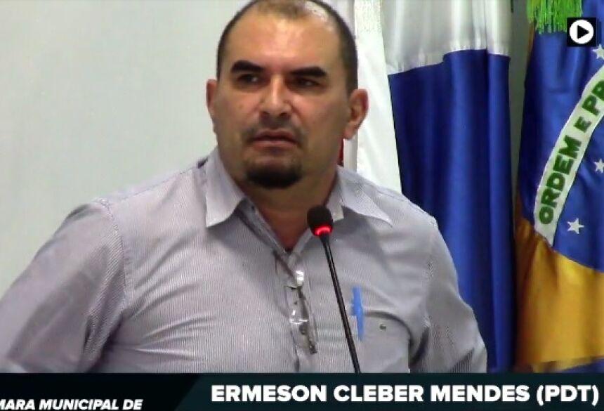 Presidente da Câmara de Fátima do Sul, Ermeson Cleber Mendes (PDT