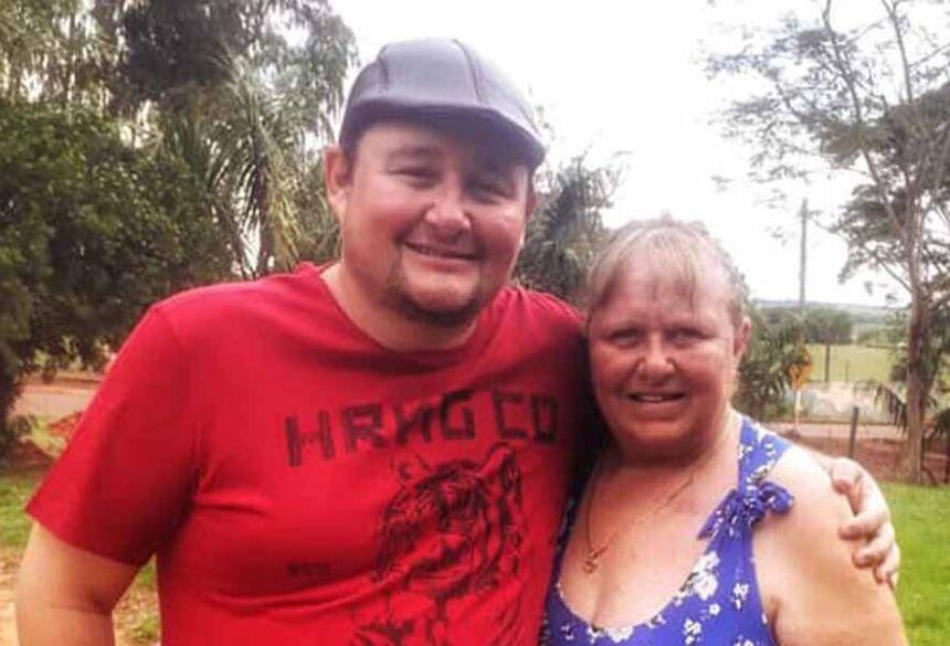 Luciano com sua Mãe Sandra
