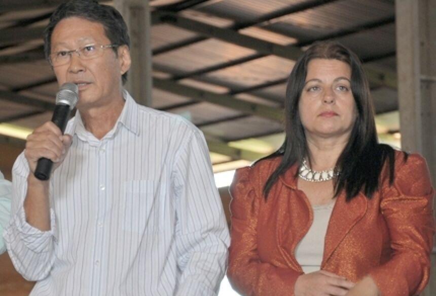 Prefeito Hélio Sato e 1ª Dama Mariza Sato (Foto: Rogério Sanches / Fátima News)