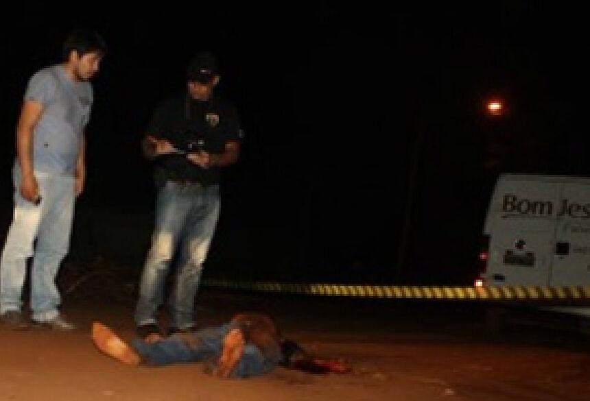 Homem foi morto a facadas. Foto - S.Bronka