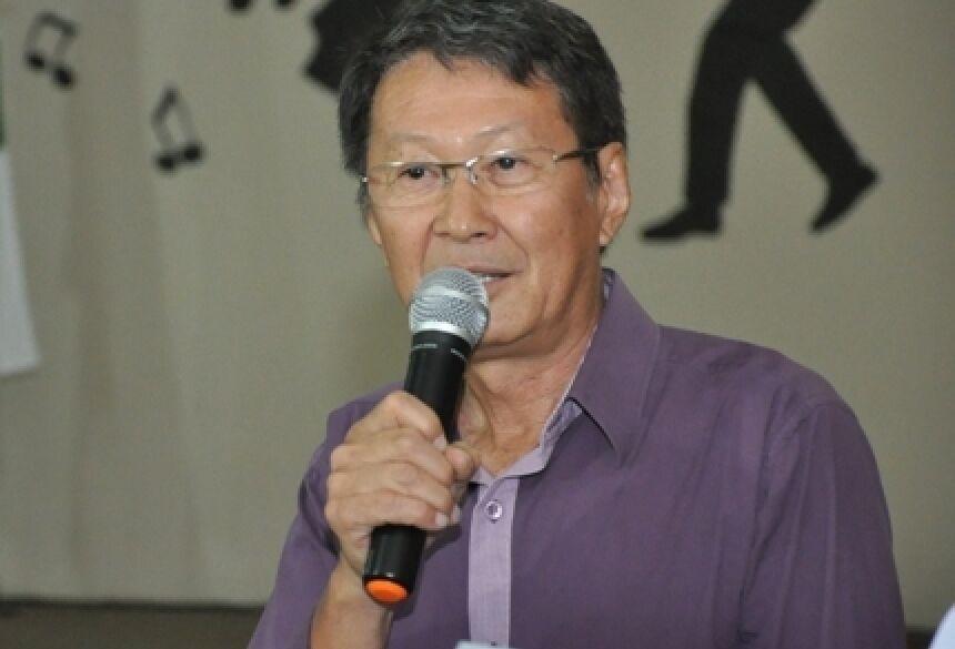 Prefeito de Vicentina, Hélio Sato - (Foto: Rogério Sanches / Fátima News)