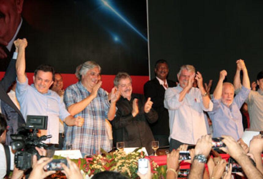 Ex-presidente Lula veio a Mato Grosso do Sul no final do ano passado <br>Foto: Luiz Alberto