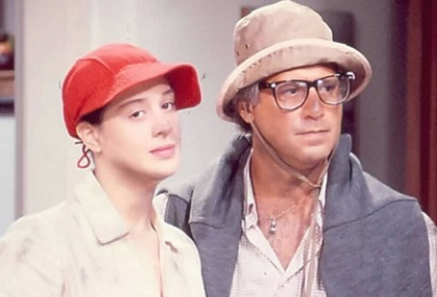 Os atores Claudia Raia e Antonio Fagundes em cena de Rainha da Sucata, novela reprisada pelo canal pago Viva