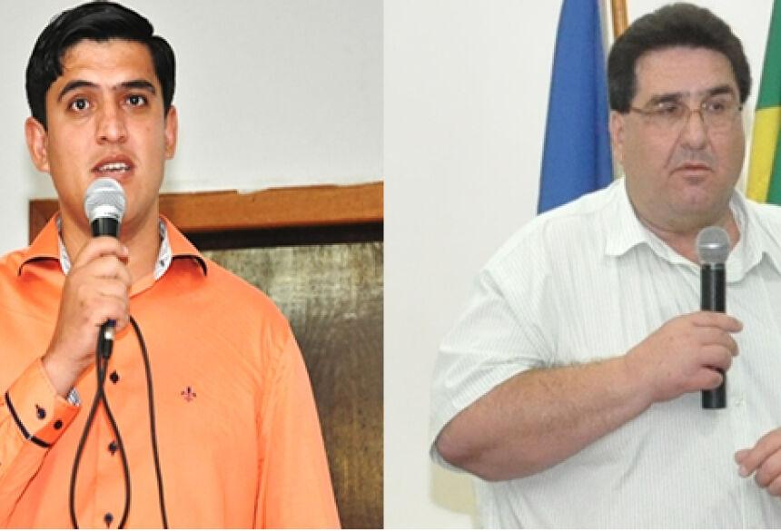 Prefeito de Fátima do Sul, Júnior Vasconcelos e prefeito de Glória de Dourados Arceno Athas - Foto: Rogério Sanches / Fátima News