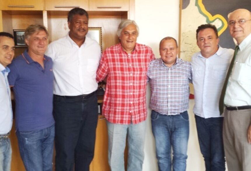 Landimark Rios, Dirceu Longhi, João Grandão, senador Delcídio, Nicácio, Vander Loubet e deputado Tetila