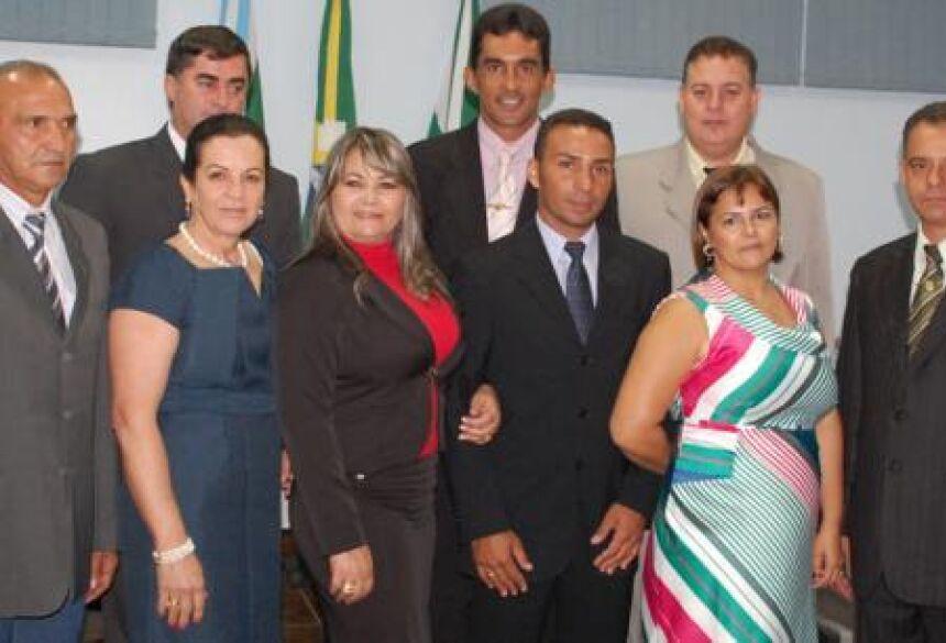 Os nove vereadores da Câmara Municipal de Jateí - Foto: José Carlos / Fátima News