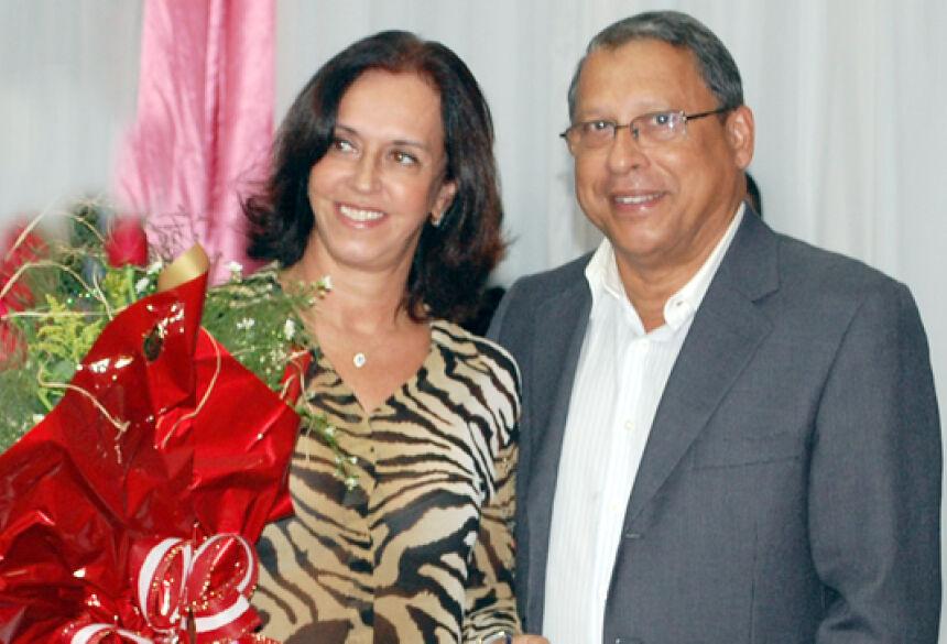 Prefeito Arilson Targino com a primeira dama Mafalda Targino - Foto: José Carlos / Fátima News