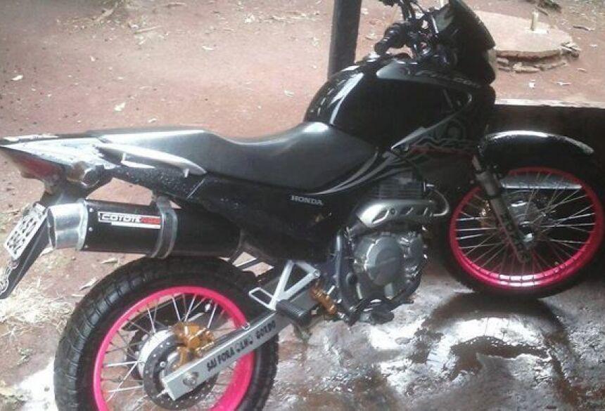 Moto recuperada na madrugada deste sábado (22). Foto: Fátima News