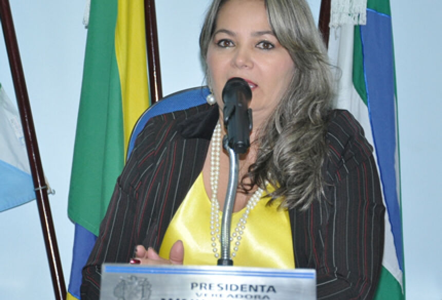 Presidente Rose Mônica - FOTO: ROGÉRIO SANCHES / FÁTIMA NEWS