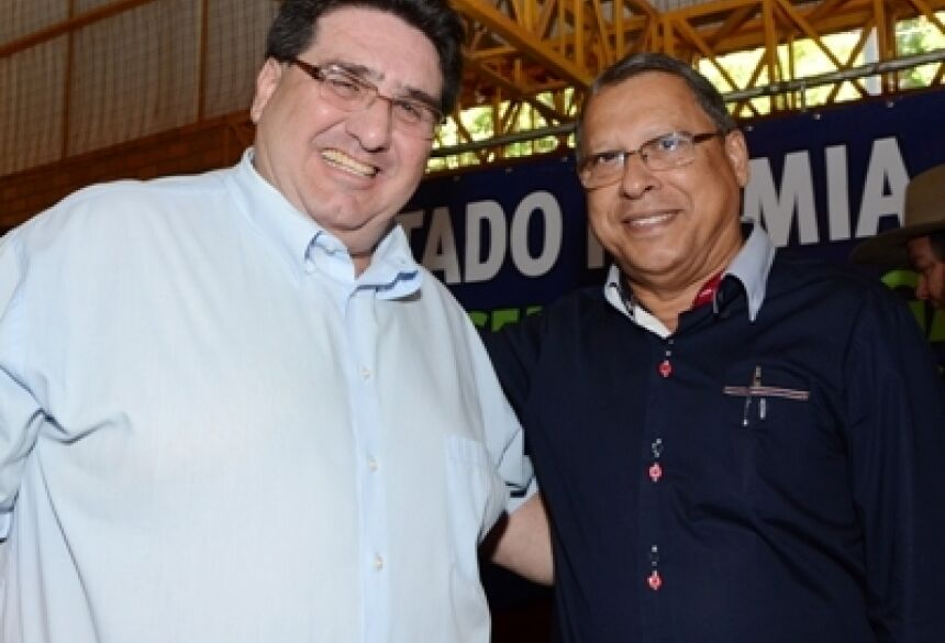 Prefeito de Jateí, Arilson Targino e de Glória de Dourados, Arceno Athas <br> - Foto: Rogério Sanches / Fátima News