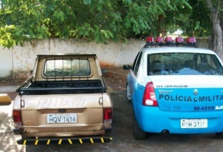 Veículo furtado pelos adolescentes (Fotos: Da Hora Noticias)