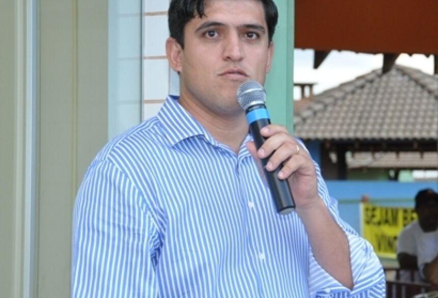 Prefeito Municipal Júnior Vasconcelos, de Fátima do Sul - <br>FOTO: ROGÉRIO SANCHES / FÁTIMA NEWS