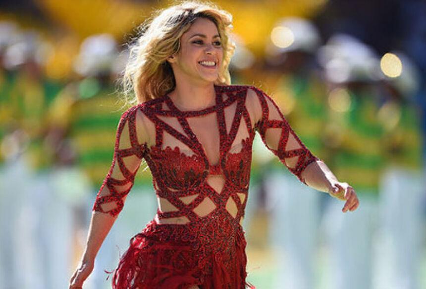 Shakira durante a cerimônia de encerramento da Copa do Mundo no Maracanã, no Rio - Matthias Hangst/Getty Images/VEJA