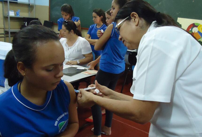 Vacina é direcionada às meninas de 11 a 13 anos que já passaram pela primeira etapa.