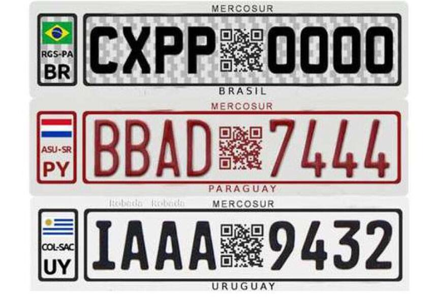 Ideia é que todas as placas tenham um mesmo padrão, assim como acontece com os países que pertendem à União Europeia
