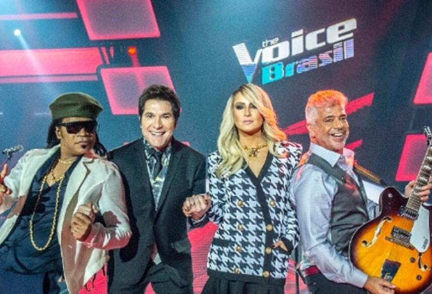 Carlinhos Brown, Daniel, Claudia Leitte e Lulu Santos têm a missão de descobrir talentos. <br>Foto: Reprodução/Gshow/The Voice Brasil