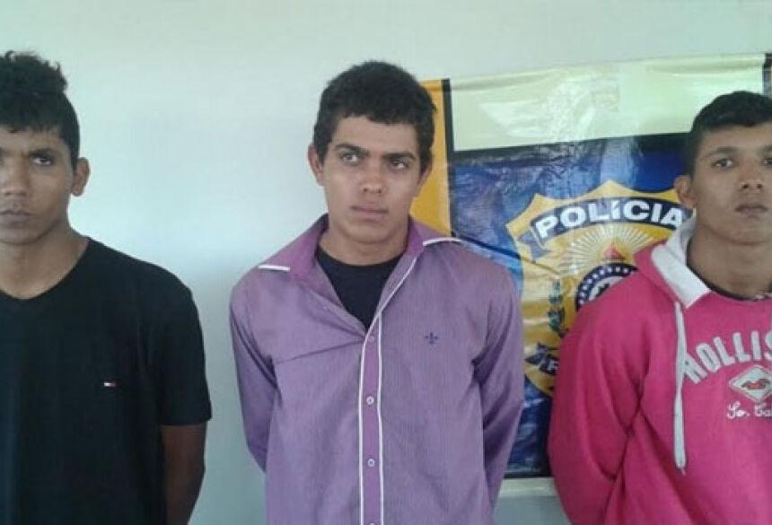 José Wellington dos Santos da Silva, Lucas Felix dos Santos e José Welton dos Santos da Silva.Foto: Sidnei Bronka (94 FM)