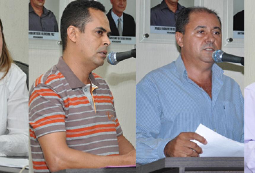 Vereadores Karenn Ramsdorf, Paulo Roberto, José Sinvaldo e Paulino Antonio Do Amaral
