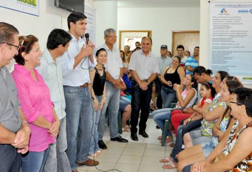 Prefeito Junior Vasconcelos agradeceu a presença de todos - Foto: Ribero Junior / SiligaNews.