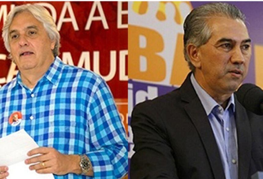O senador Delcídio do Amaral (PT) e o deputado federal Reinaldo Azambuja (PSDB) disputarão o segundo turno