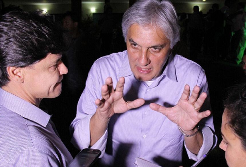 Delcídio do Amaral alfinetou aliança entre Reinaldo Azambuja e peemedebistas oficializada nesta quarta-feira (Foto: Kísie Ainoã)