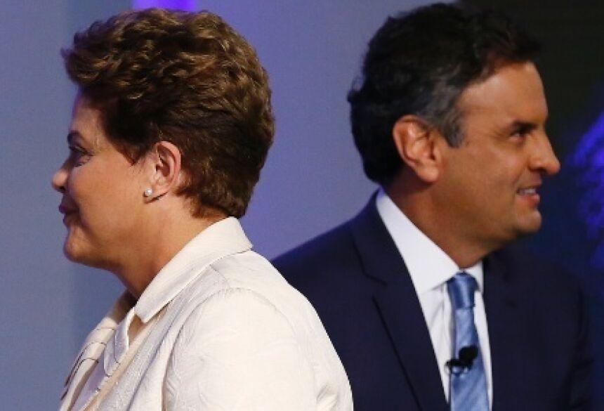 Dilma e Aécio no último debate, realizado pela TV Globo, na quinta-feira (2)
