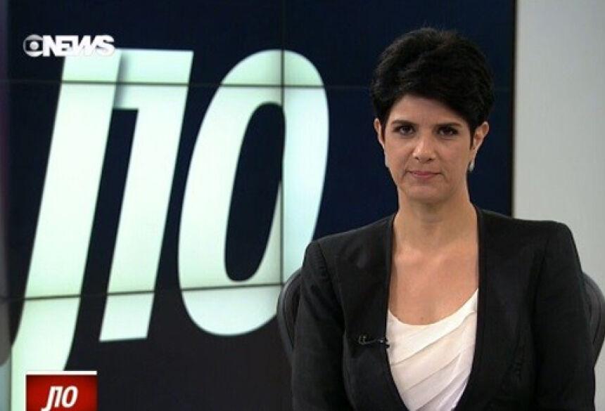A jornalista Mariana Godoy durante apresentação do Jornal das Dez da última quinta-feira (2)