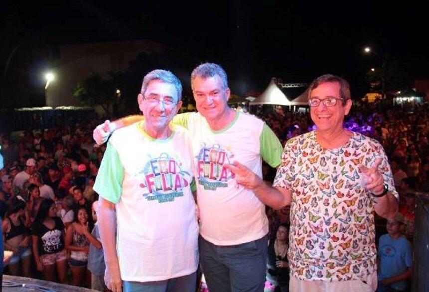 Diretor-presidente da Fundtur, Nelson Cintra, secretário de Turismo de Bonito, Augusto Mariano e diretor-presidente d Fertel Bosco Martins