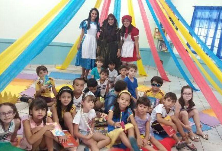 Projeto leva as crianças ao mundo dá imaginação é do conhecimento no Reino do Saber em FÁTIMA DO SUL