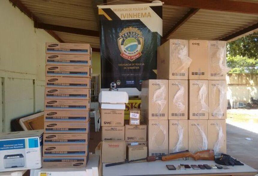 FOTO: IVINOTÍCIAS - Polícia Civil de Ivinhema recupera computadores furtados de assentamento em Angélica