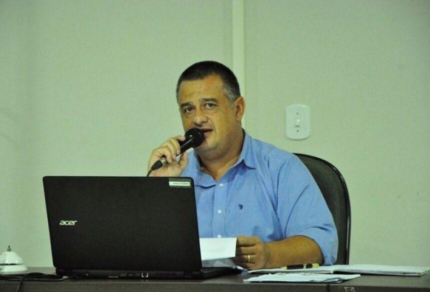 Presidente da Câmara de Deodápolis, Vereador Márcio Teles (PSB), é o autor do Projeto de Lei. (Foto: Renato Vessani / Vicentina Online)