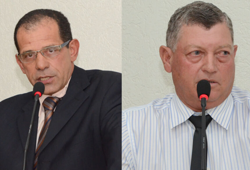 Vereadores José Pereira e Lupércio Nantes durante sessão ordinária da Câmara – FOTOS: ROGÉRIO SANCHES / FÁTIMA NEWS