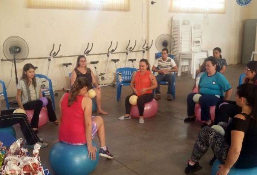Saúde faz acompanhamento de gestantes com aulas de 'Pilates' gratuitamente em Jateí