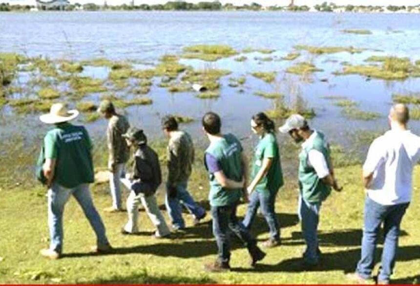 Técnicos da Embrapa Pantanal na Lagoa Maior - Foto: Gisele Mendes/Correio do Estado