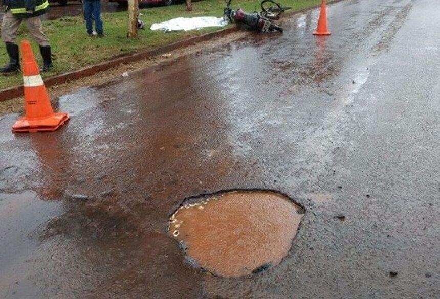 Acidente ocorreu hoje pela manhã em Dourados - Fotos: Osvaldo Duarte