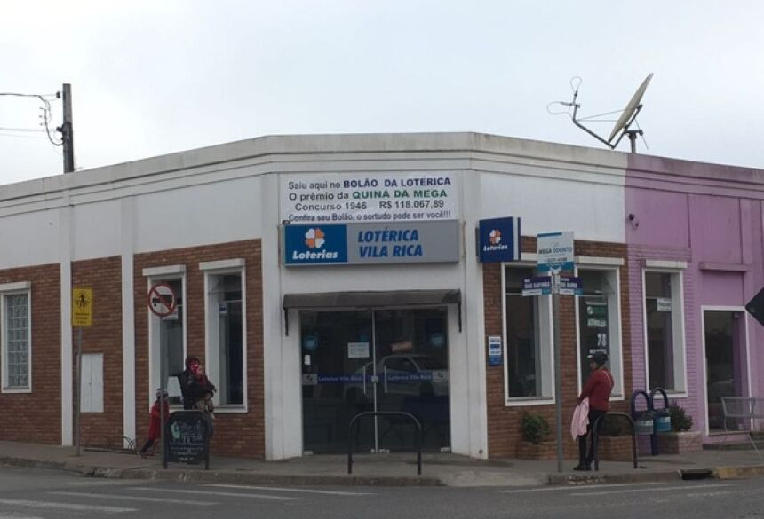Aposta foi feita na única lotérica da cidade (Foto: Divulgação/Lotérica Vila Rica)