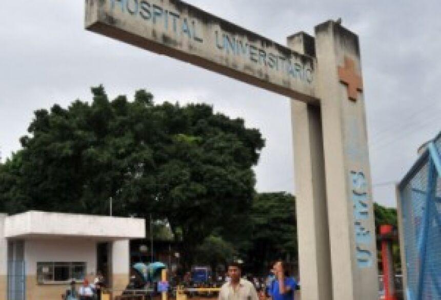 Entrada do Hospital Universitário em Campo Grande - Foto: Valdenir Rezende/Correio do Estado