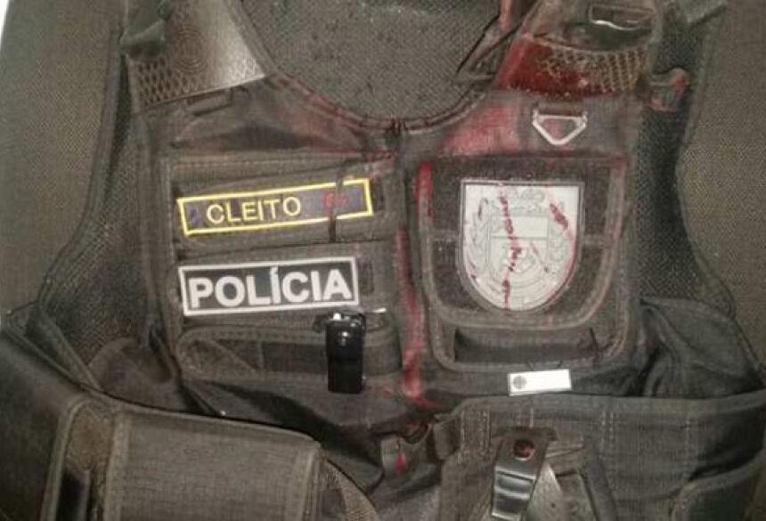Militar foi atingido por tiro disparado por suspeito (Divulgação/PC MS)