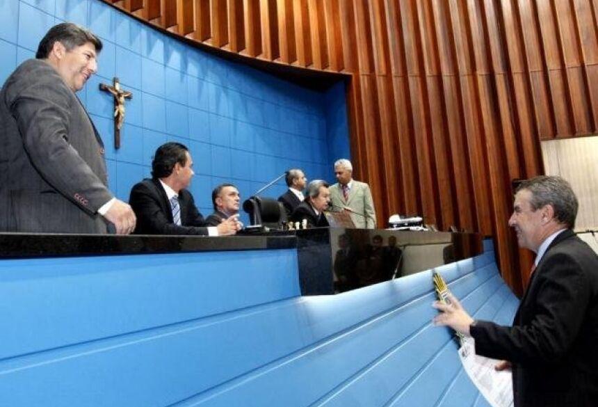 Deputados estaduais na Assembleia Legislativa de MS. (Foto: Victor Chileno/ALMS/Arquivo).