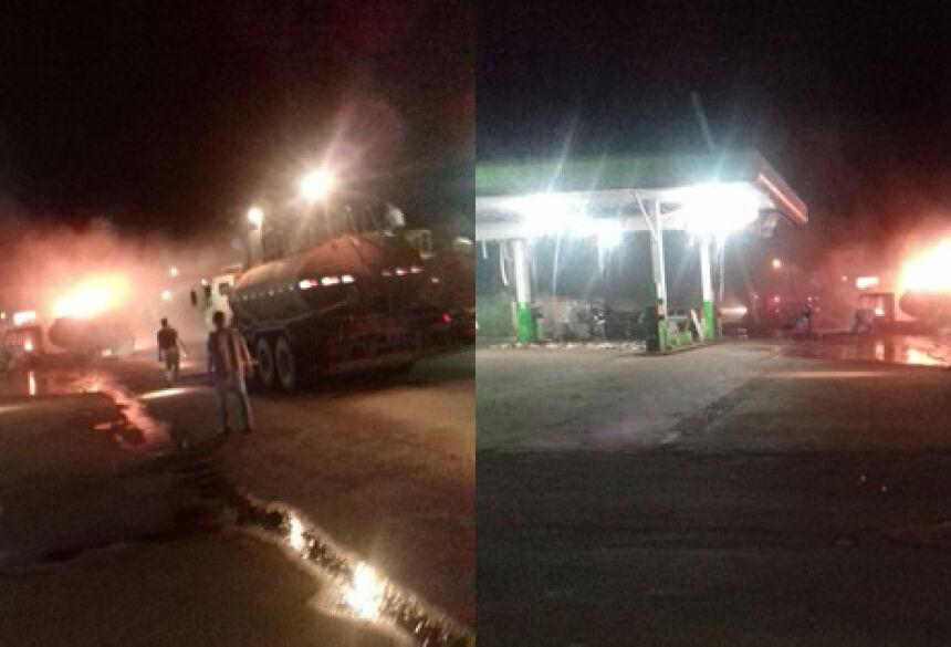 FOTOS: CARLOS CORONEL - Três horas e caminhões pipa da Usina e dos Bombeiros foram usados para controlar incêndio