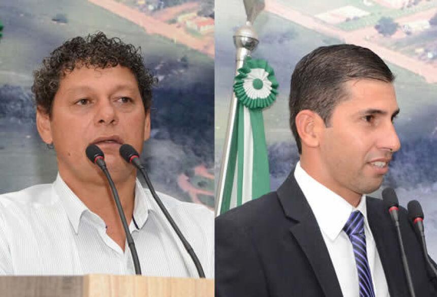 No detalhe os vereadores Denilson de Melo Ramos e Robson Carmo Monteiro – FOTO: ROGÉRIO SANCHES / FÁTIMA NEWS