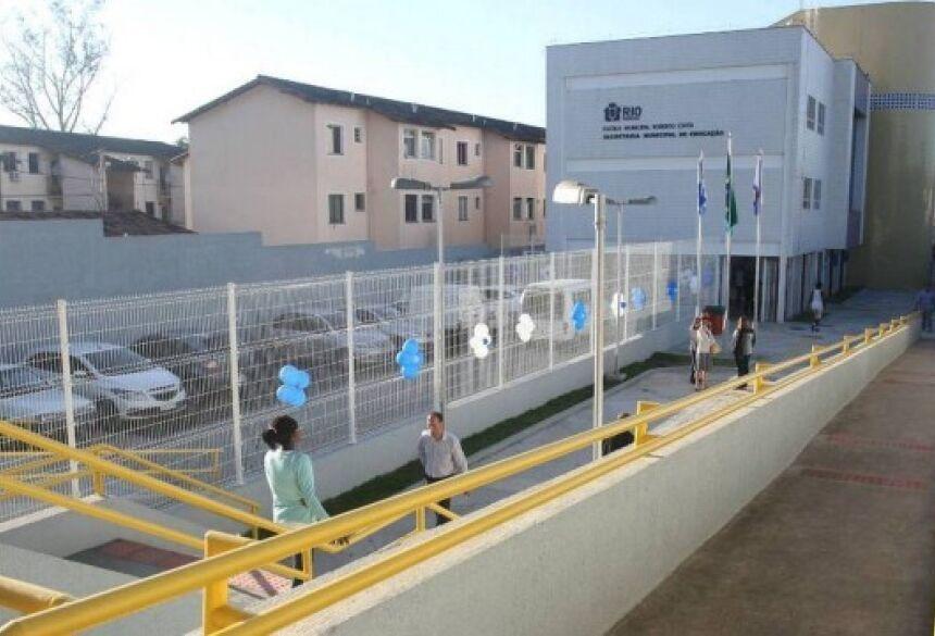Escola inaugurada em 2013 Foto: Ricardo Cassiano / Divulgação / Prefeitura do Rio