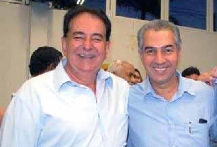 Prefeito Marcos Pacco  e Governador do Estado Reinaldo Azambuja     Foto: Itaporã News
