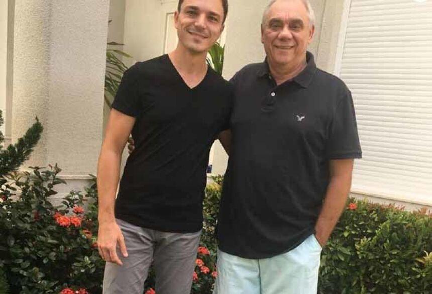 Marcelo Rezende foi homenageado pelo filho, Diego Esteves, nesta sexta-feira, 15 de setembro de 2017