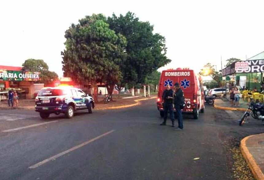 Cruzamento onde homem foi baleado - Foto: Fábio Dorta