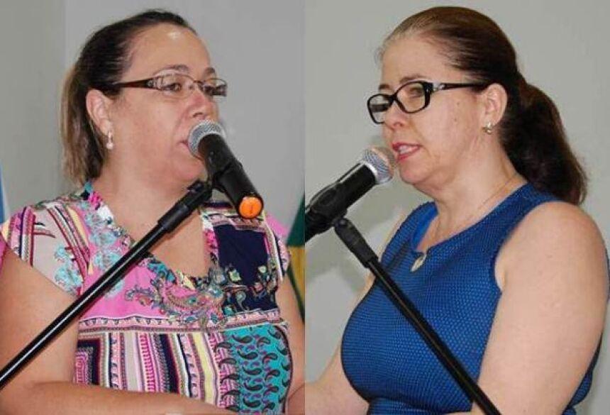 Vereadoras Claudia Regina Marangoni BOM – PSDB e Rosani Espindola Barros Penze – PEN – Foto Adauto Dias / glorianews