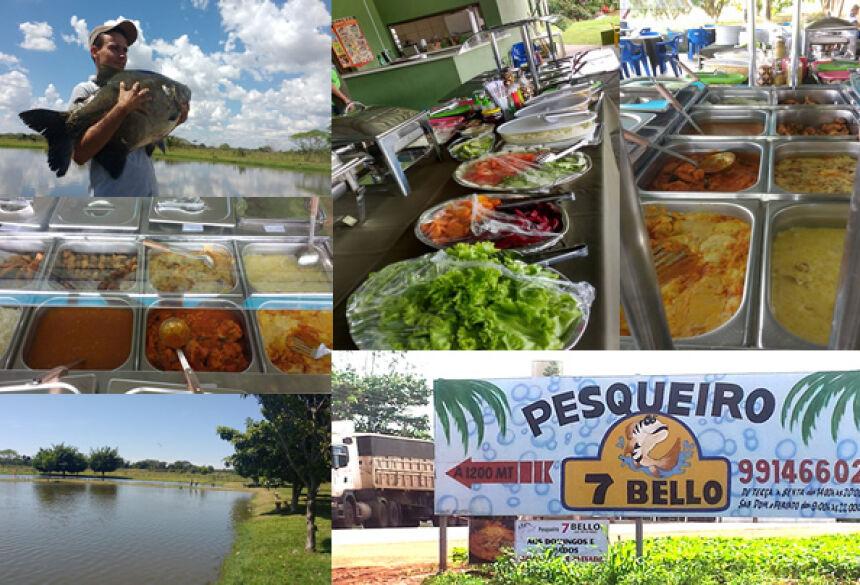 Pesqueiro 7 Bello serve dilicioso almoço com pratos típicos do peixe neste domingo em VICENTINA