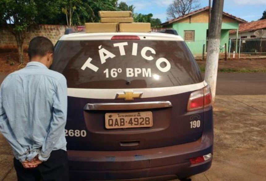 Polícia Militar prende passageiro de ônibus de viagem que traficava drogas em Fátima do Sul