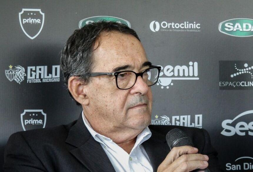 Bebeto de Freitas, diretor de administração e controle do Atlético-MG, durante lançamento do Galo FA (Foto: Bruno Cantini/ Atlético-MG)
